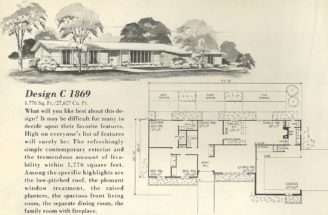 Vintage House Plans More Mid Century Single Story Homes