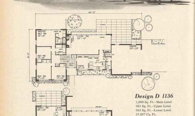 Vintage House Plans Multi Level Homes Part Antique