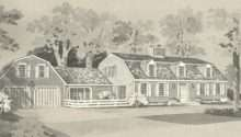 Vintage House Plans New England Gambrel Roof Homes Posted