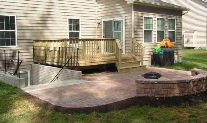 Walkout Basement Deck Patio Ideas Home Design