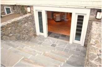 Walkout Basement Entrance Double Doors