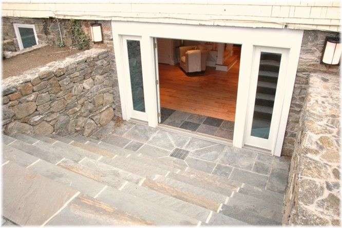 Walkout Basement Entrance Double Doors
