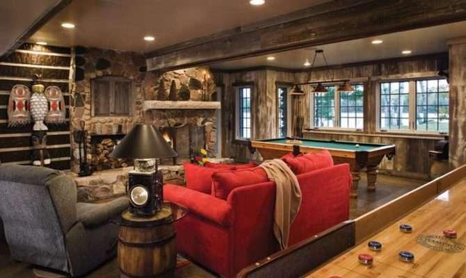Walkout Basements Homes Rustic Lake House Game