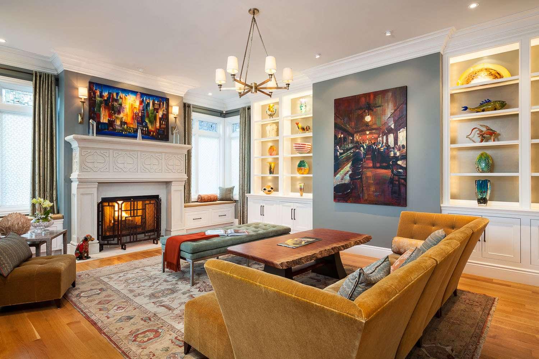 Warmth Modern Craftsman Interior House Plan