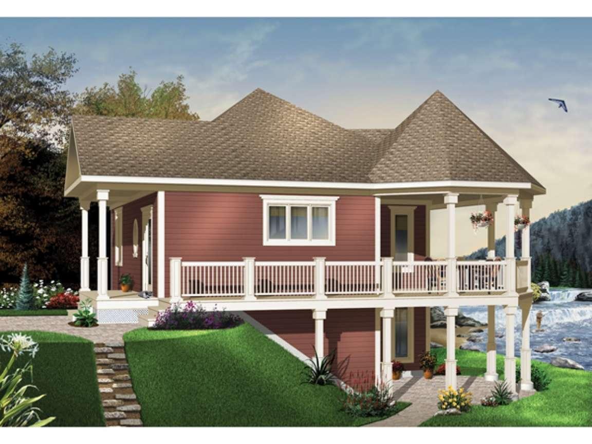 Waterfront House Plans Walkout Basement Small