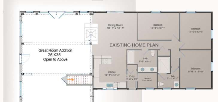 One Room Home Addition Plans Waterview Great Room Addition
