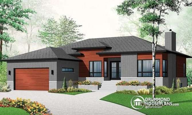 Week House Plan Attached Garage Second Living Room