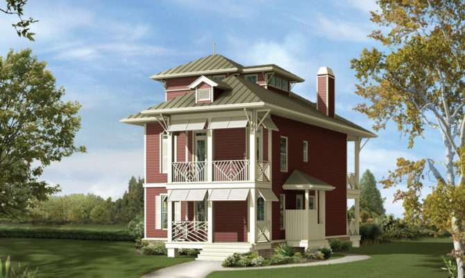 Weintraub Narrow Lot Home Plan House Plans