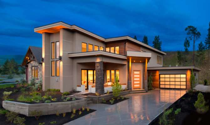 West Coast Contemporary Style Homes House Design Plans