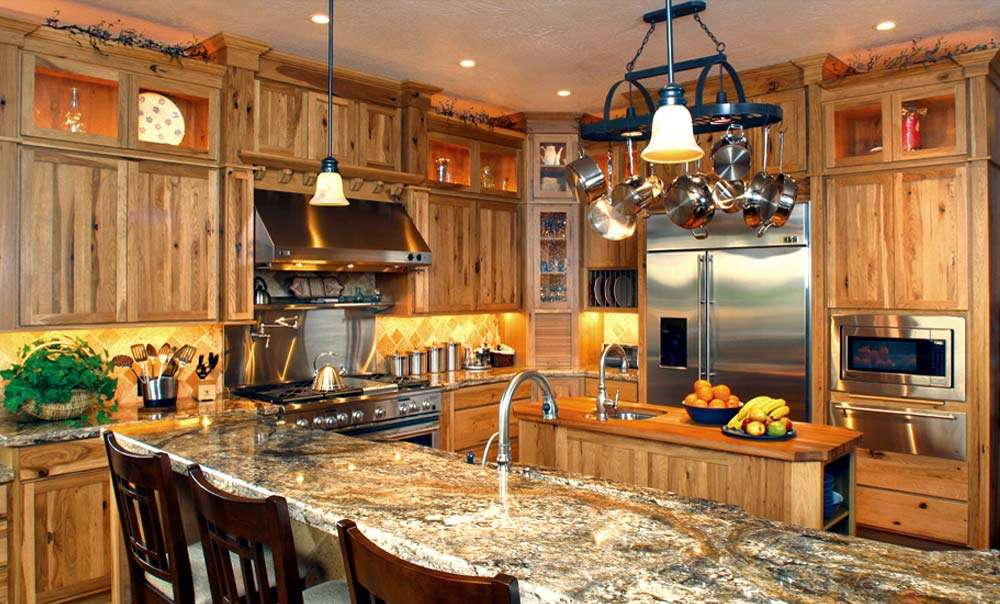 Western Kitchen Design High Mountain Style Stylish Home