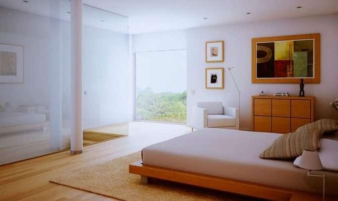 White Bedroom Wood Floors Interior Design Ideas