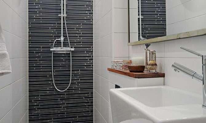White Ceramic Tile Wall Bathroom Interior Stunning Small