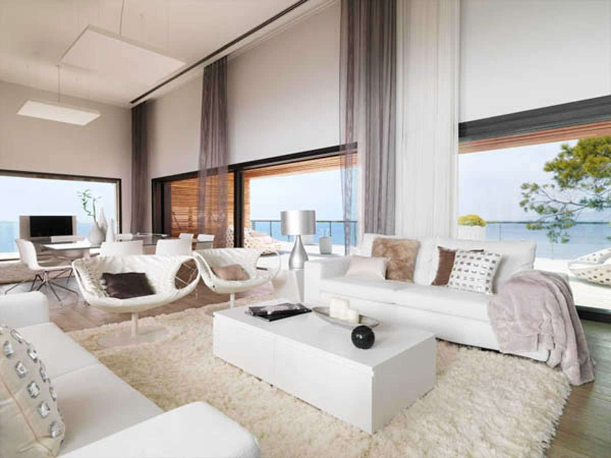 White Dream House Living Room One Total Modern