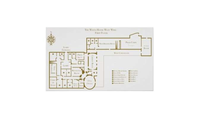 White House Floor Plan West Wing