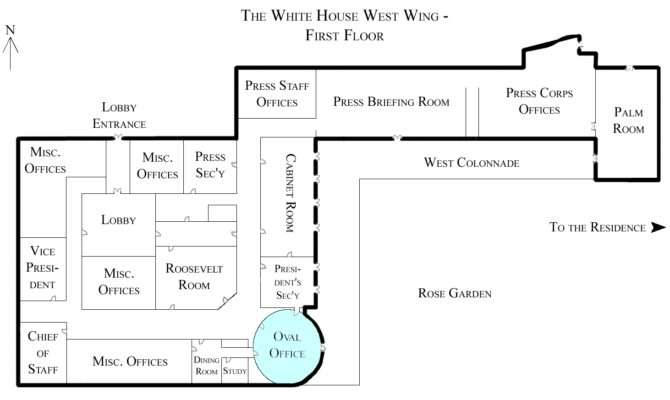 White House West Wing Floor Oval