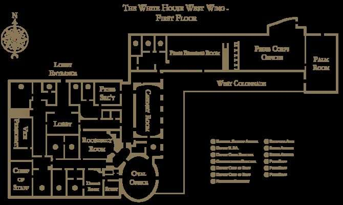 White House West Wing Floorplan Svg Wikimedia Commons