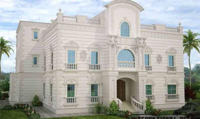 White Villa Design Modern