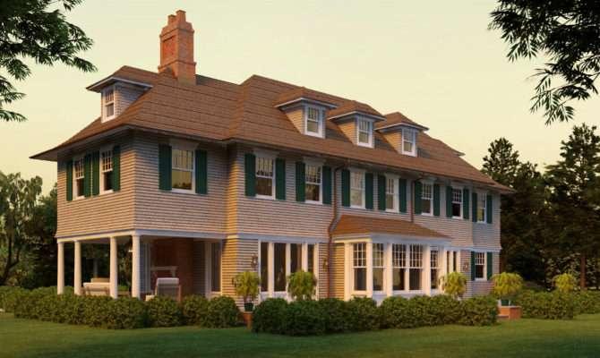 Wickapogue Road Shingle Style Home Plans David Neff