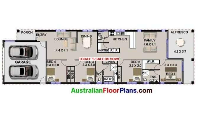Wide Narrow House Plans Design