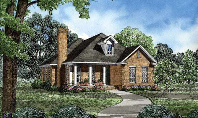 Windleigh Brick Ranch Home Plan House Plans More