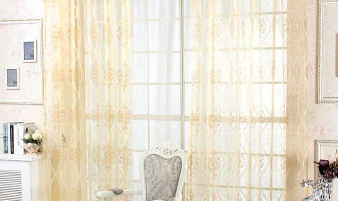 Window Screening Rustic Decorative Door Sheer Curtain