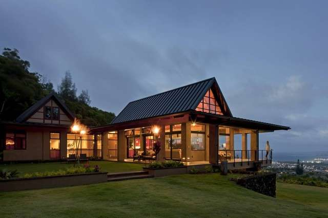 Wing House Tropical Exterior Hawaii Mcclellan