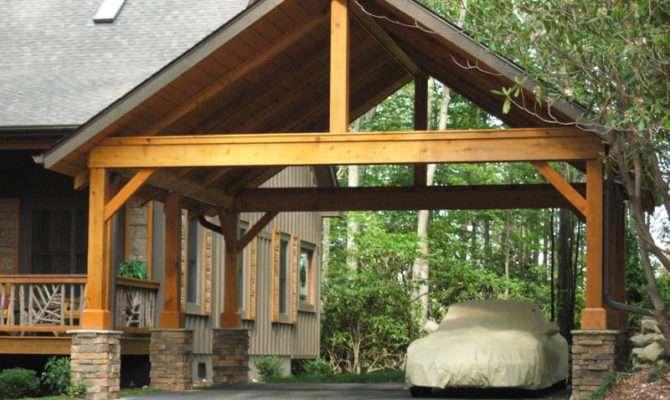 Wood Carports Flat Roof Sloping Braun Rfele