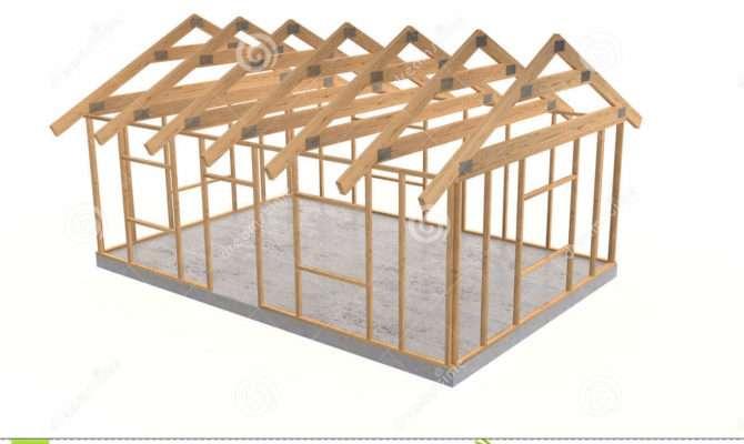 Wood House Frame Square White