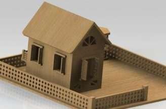 Wooden House Solidworks Cad Model Grabcad