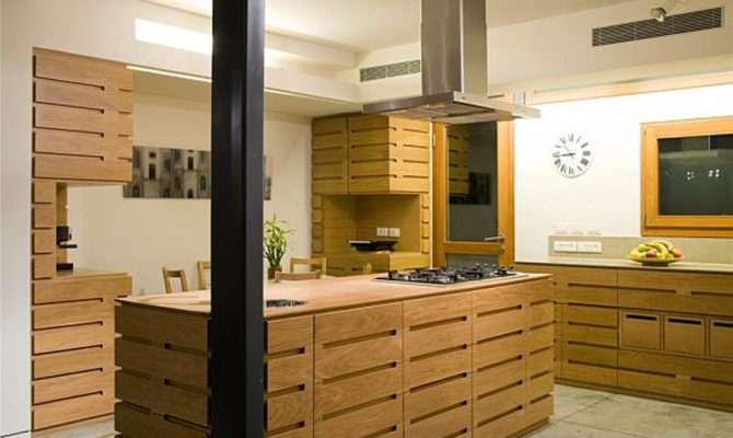 Wooden Kitchen Design Savyon House Interior Architecture
