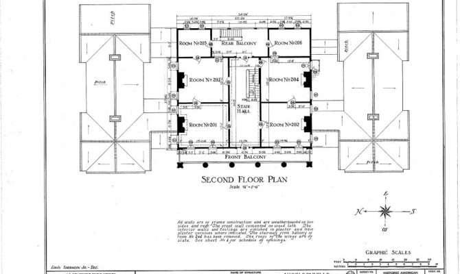 Woodlawn Plantation Mansion Napoleonville Louisiana Second Floor Plan