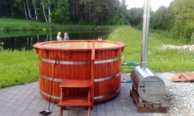 Woodwork Can Buy Log Fired Hot Tub Heater Pdf Plans