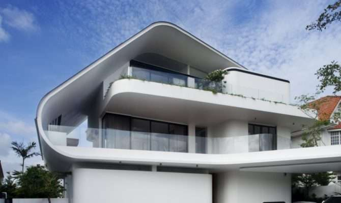 World Architecture Modern Mansion Defined Curves