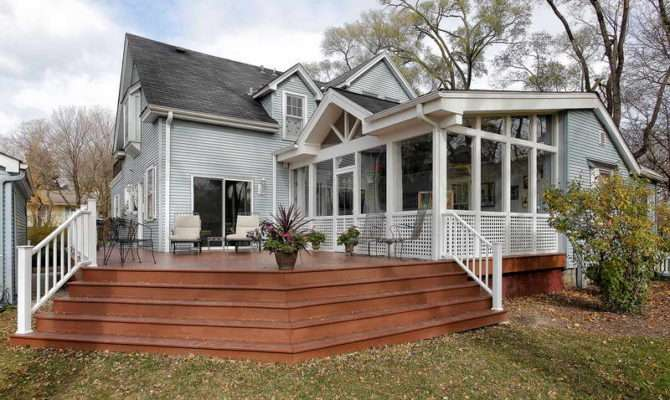 Wrap Around Deck House Plans Porch
