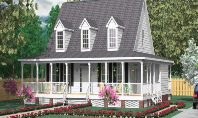 Wrap Around Porch House Plans Modern Small