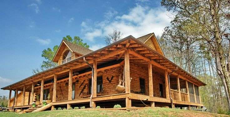 Wrap Around Porch House Plans Pole Barn Homes Pinterest