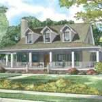 Wrap Around Porch House Plans Rustic Craftsman Ranch