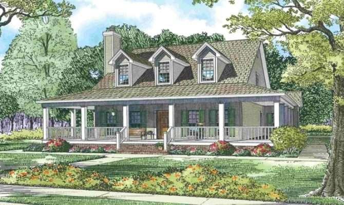 Wrap Around Porch House Plans Rustic Craftsman Ranch