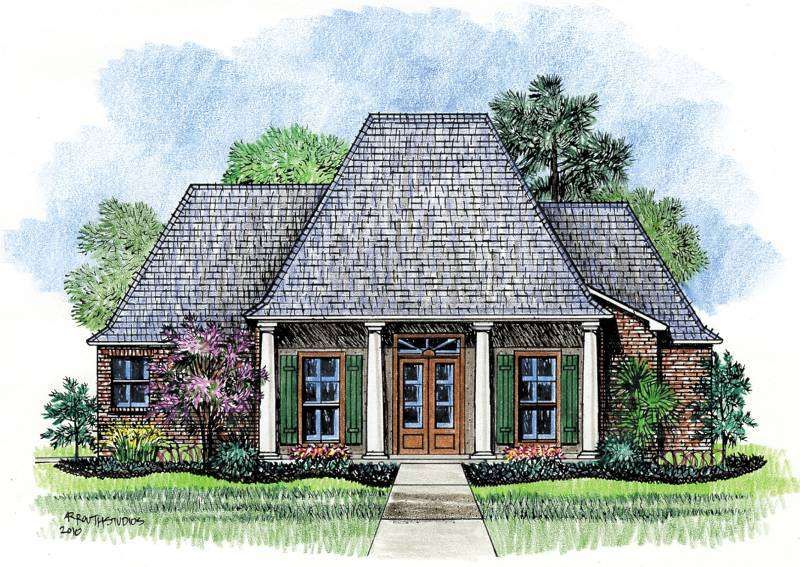 Wyatt Louisiana House Plans Acadian